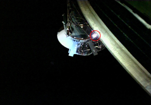 小型モニタカメラ(CAM-H)で試験撮影したサンプラホーン