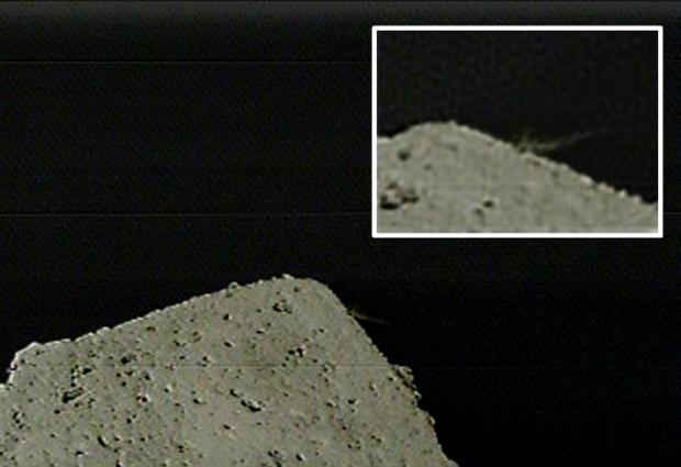 小惑星探査機「はやぶさ2」の記者説明会(2019/4/11) 分離カメラ(DCAM3)による撮影アナログ系による画像