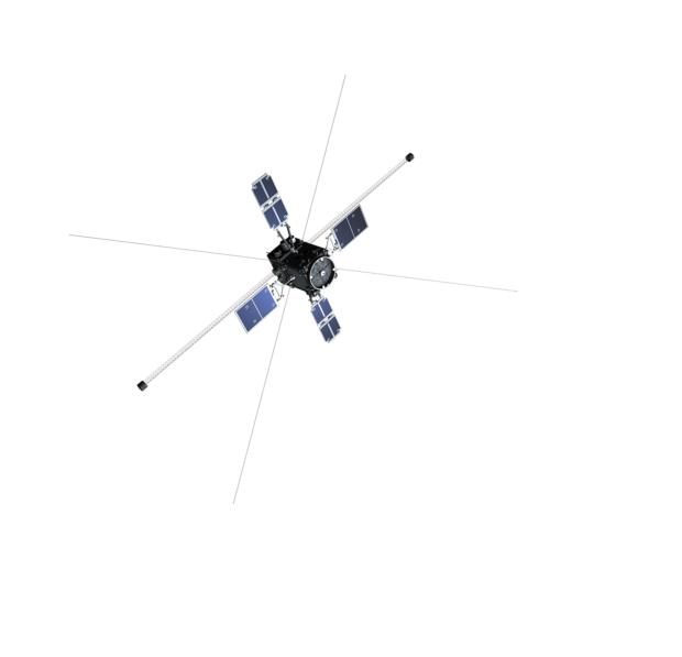 軌道上でのERG衛星外観