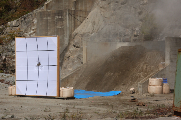 「はやぶさ2」衝突装置 試験準備の様子