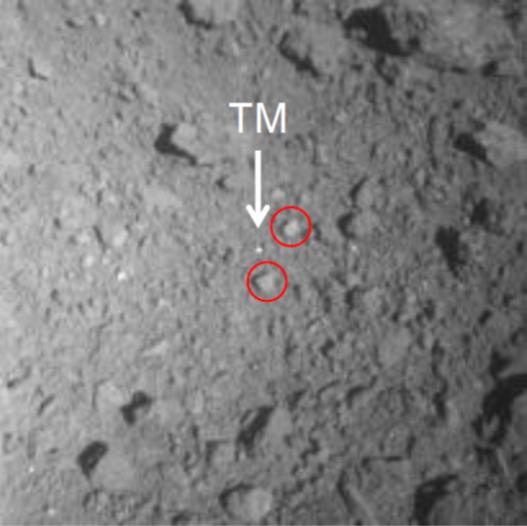 「はやぶさ2」低高度降下観測運用(PPTD-TM1A)投下されたターゲットマーカ