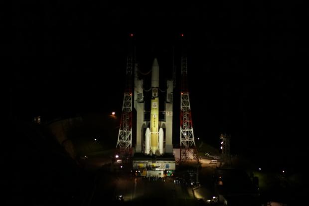 H-IIAロケット26号機/小惑星探査機「はやぶさ2」(Hayabusa2)の機体移動