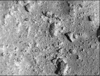 小惑星探査機「はやぶさ2」の記者説明会(2019/4/11) SCI撮像時の位置(起爆・衝突の約40分前)